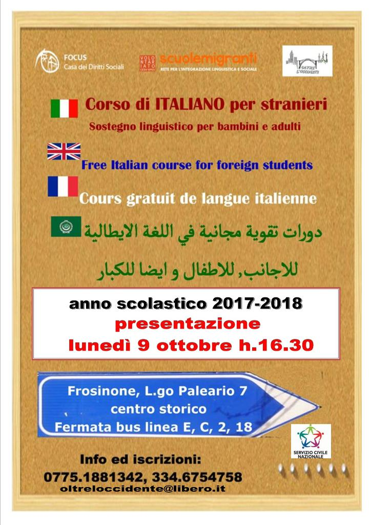 Scuola d'italiano per migranti