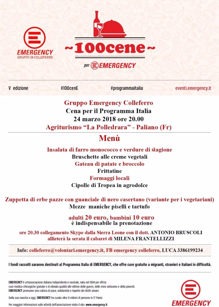 Centocene per Emergency @ Paliano