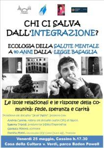 Ecologia della salute mentale a 40 anni dalla Legge Basaglia @ Cassino
