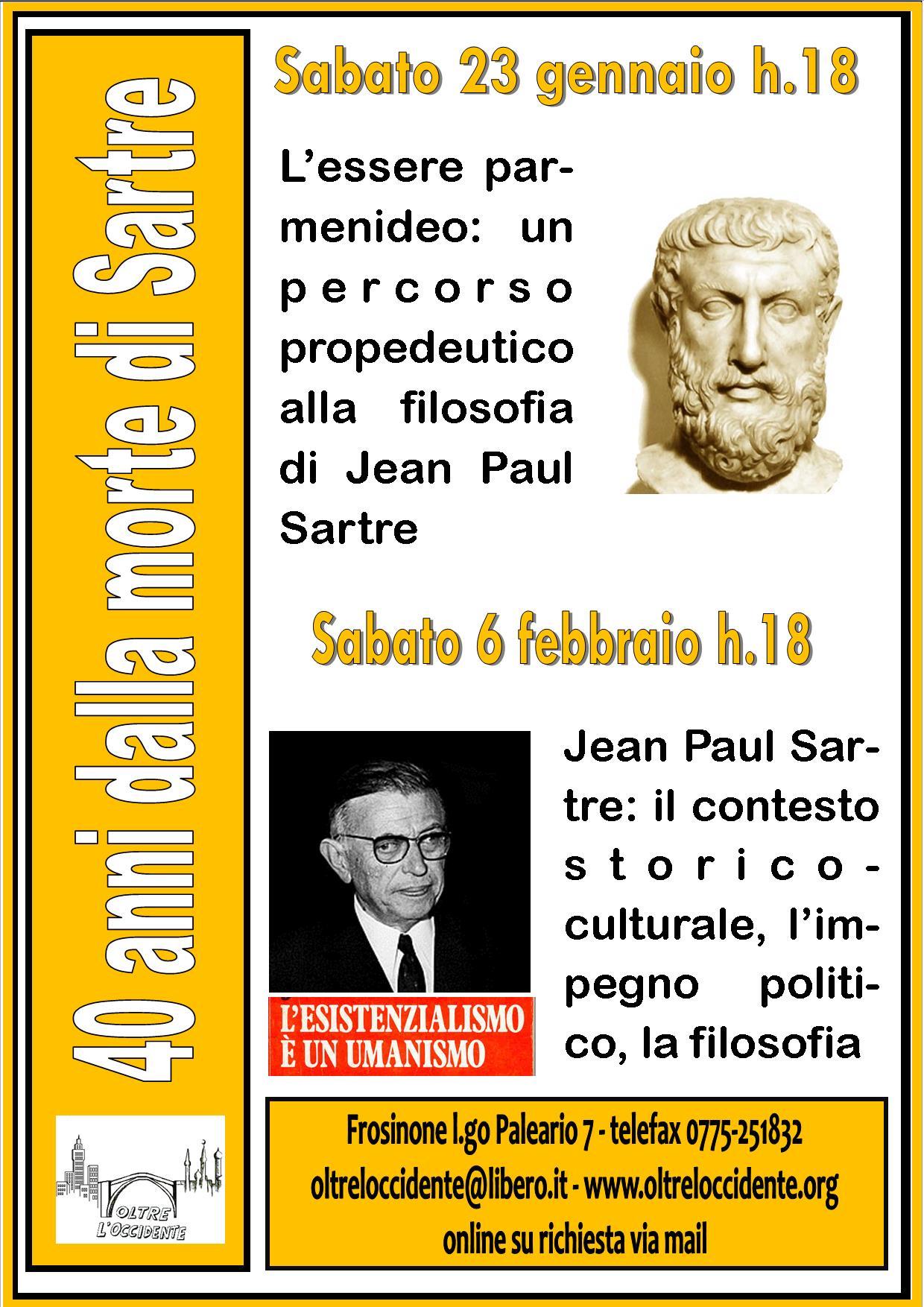 A 40 anni dalla morte di Sartre @ Centro Allonsanfan Frosinone